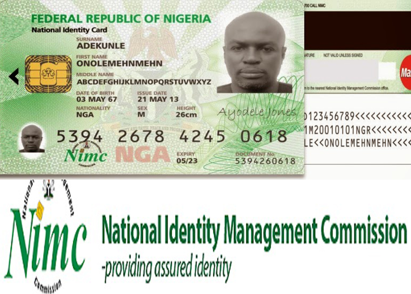 – For Nigerian 000 Ready Id 300 Cards Diary Collection Nimc -